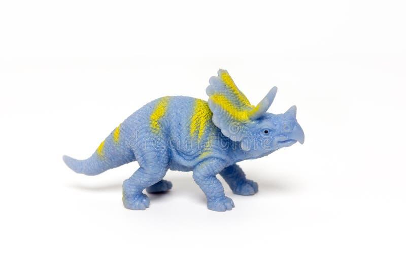 δεινόσαυροι παιχνιδιών σε ένα απομονωμένο άσπρο υπόβαθρο στοκ εικόνες με δικαίωμα ελεύθερης χρήσης