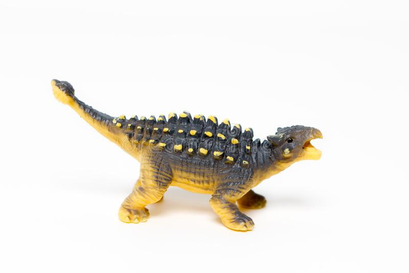 δεινόσαυροι παιχνιδιών σε ένα απομονωμένο άσπρο υπόβαθρο στοκ φωτογραφία με δικαίωμα ελεύθερης χρήσης