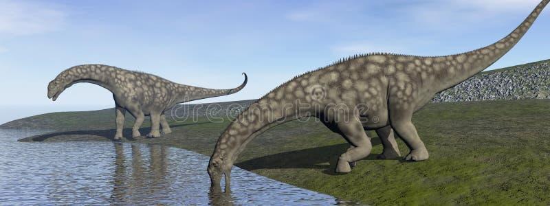 Δεινόσαυροι Argentinosaurus - τρισδιάστατοι δώστε διανυσματική απεικόνιση