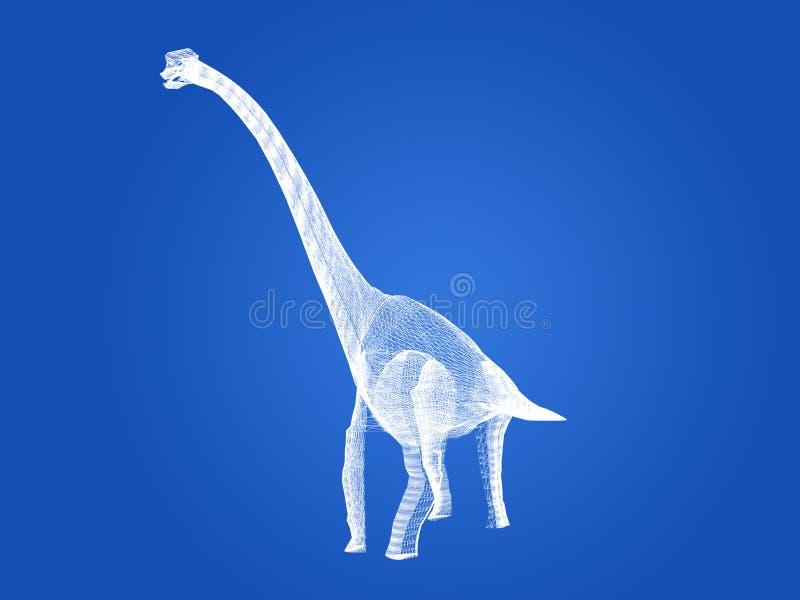 Δεινόσαυροι Diplodocus, τρισδιάστατη απόδοση απεικόνιση αποθεμάτων
