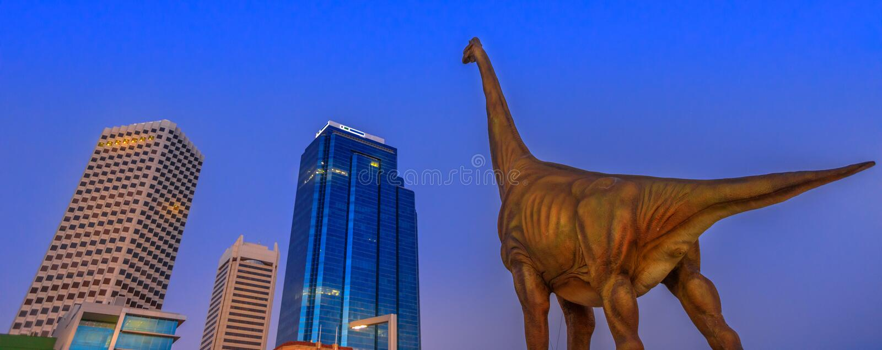 Δεινόσαυρος οριζόντων του Περθ πανοράματος στοκ φωτογραφία