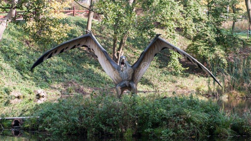Δεινόσαυρος πάρκων της Dino στοκ εικόνα
