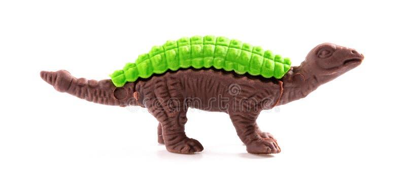 Δεινόσαυρος παιχνιδιών στο άσπρο υπόβαθρο στοκ εικόνα με δικαίωμα ελεύθερης χρήσης