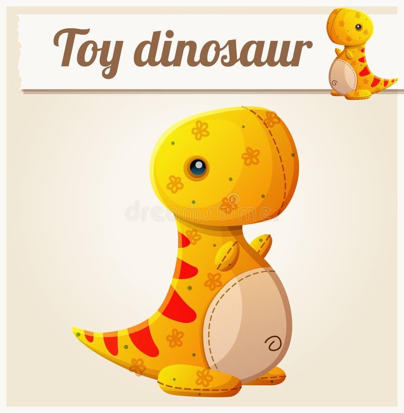 Δεινόσαυρος 6 παιχνιδιών η αλλοδαπή γάτα κινούμενων σχεδίων δραπετεύει το διάνυσμα στεγών απεικόνισης απεικόνιση αποθεμάτων
