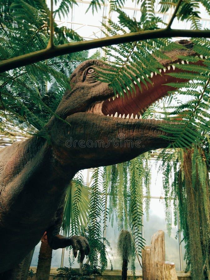 δεινόσαυρος στον κήπο στοκ φωτογραφίες