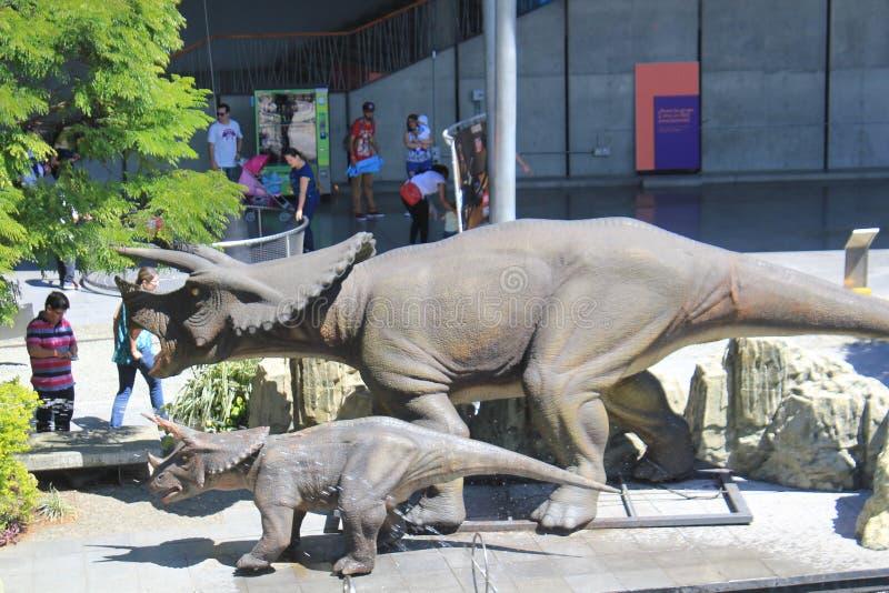 Δεινόσαυρος στον τομέα των πάρκων ` Explora ` Medellin Κολομβία στοκ εικόνες