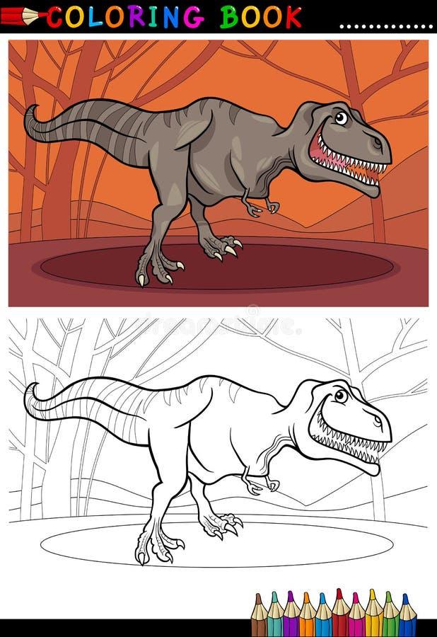 Δεινόσαυρος τυραννοσαύρων rex για το χρωματισμό διανυσματική απεικόνιση
