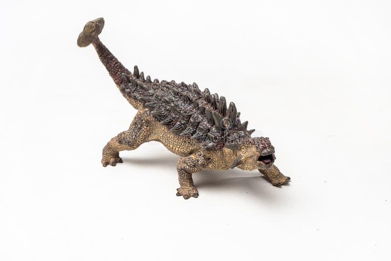 Δεινόσαυρος Ankylosaurus στο άσπρο υπόβαθρο στοκ εικόνες