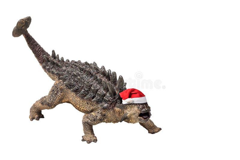 Δεινόσαυρος Ankylosaurus στο άσπρο υπόβαθρο στοκ φωτογραφίες