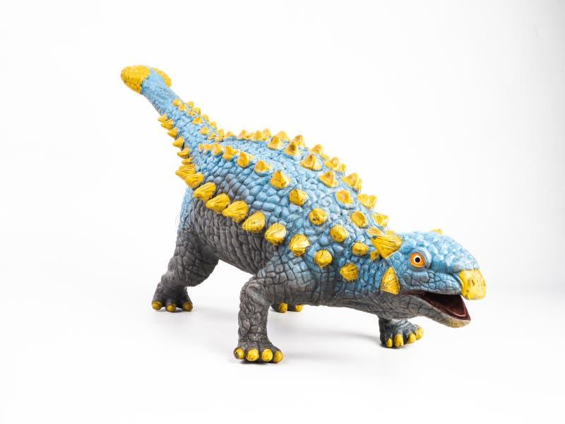 Δεινόσαυρος Ankylosaurus στο άσπρο υπόβαθρο στοκ φωτογραφία