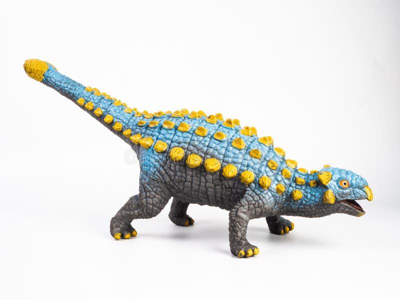 Δεινόσαυρος Ankylosaurus στο άσπρο υπόβαθρο στοκ εικόνα