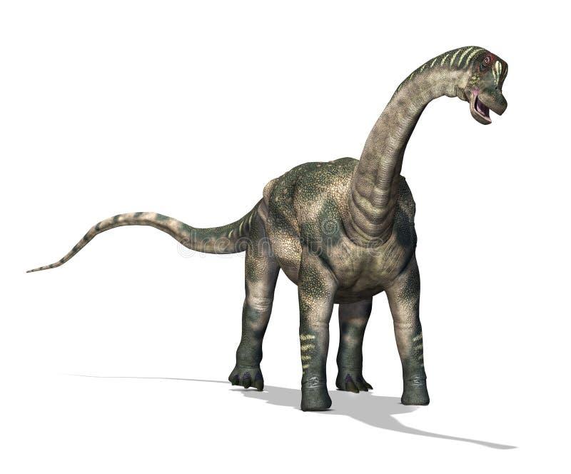 Δεινόσαυρος Antartosaurus διανυσματική απεικόνιση