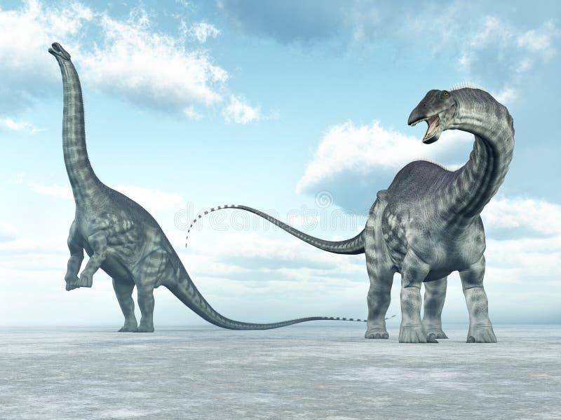 Δεινόσαυρος Apatosaurus διανυσματική απεικόνιση