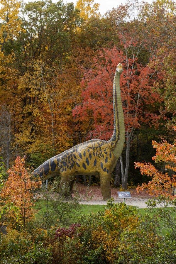 Δεινόσαυρος brachiosaurus φυσικού μεγέθους στοκ φωτογραφίες