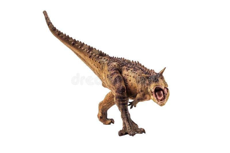 Δεινόσαυρος Carnotaurus στο άσπρο υπόβαθρο στοκ φωτογραφίες με δικαίωμα ελεύθερης χρήσης