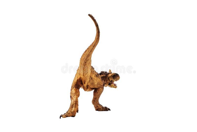 Δεινόσαυρος Carnotaurus στο άσπρο υπόβαθρο στοκ εικόνες
