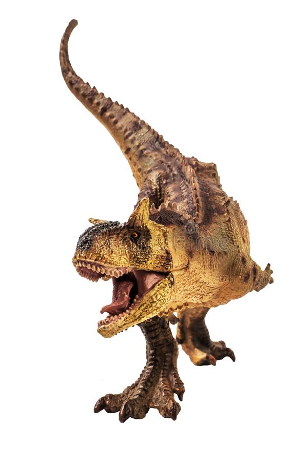 Δεινόσαυρος Carnotaurus στο άσπρο υπόβαθρο στοκ φωτογραφία με δικαίωμα ελεύθερης χρήσης