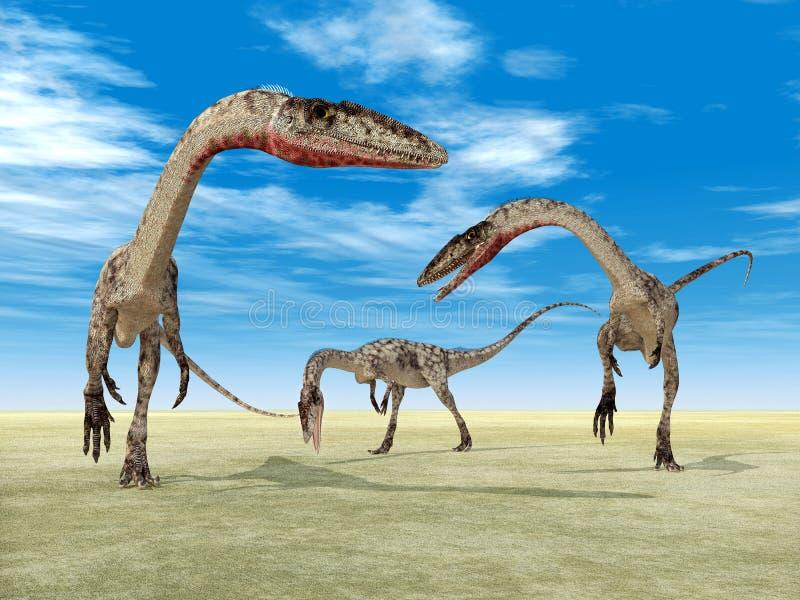 Δεινόσαυρος Coelophysis διανυσματική απεικόνιση