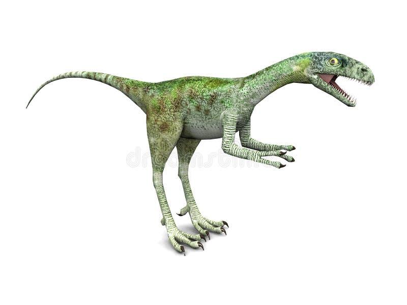 δεινόσαυρος compsognathus ελεύθερη απεικόνιση δικαιώματος