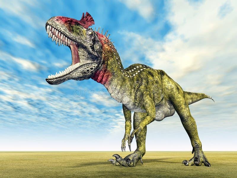 Δεινόσαυρος Cryolophosaurus απεικόνιση αποθεμάτων
