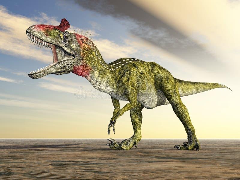 Δεινόσαυρος Cryolophosaurus ελεύθερη απεικόνιση δικαιώματος