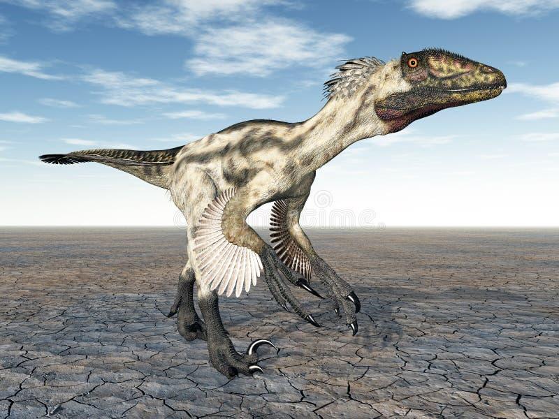Δεινόσαυρος Deinonychus ελεύθερη απεικόνιση δικαιώματος