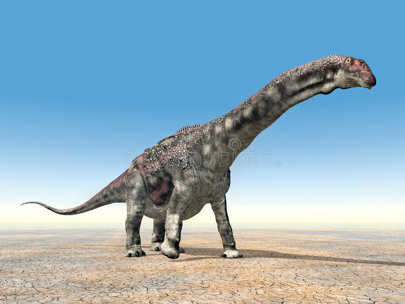 δεινόσαυρος diamantinasaurus απεικόνιση αποθεμάτων