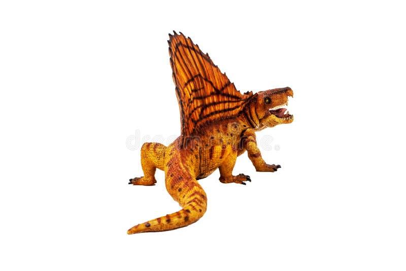 Δεινόσαυρος Dimetrodon στο άσπρο υπόβαθρο στοκ φωτογραφία με δικαίωμα ελεύθερης χρήσης
