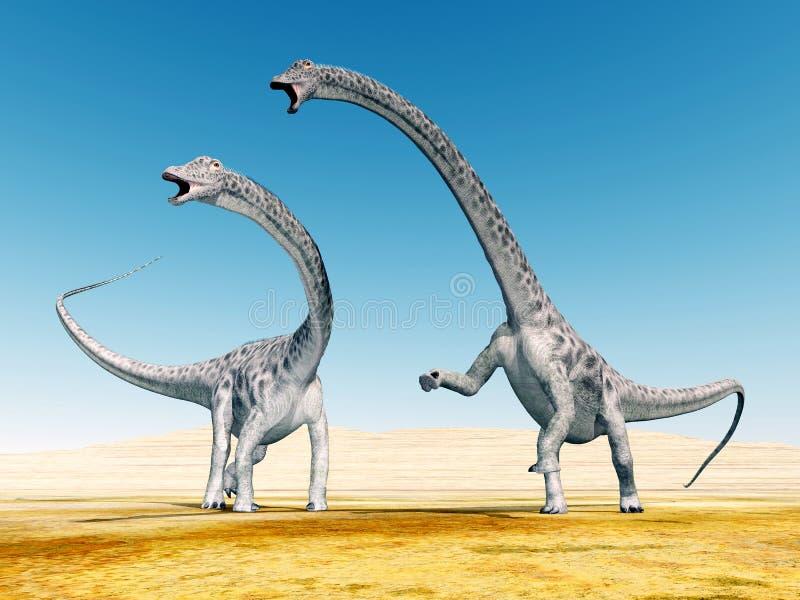 Δεινόσαυρος Diplodocus ελεύθερη απεικόνιση δικαιώματος