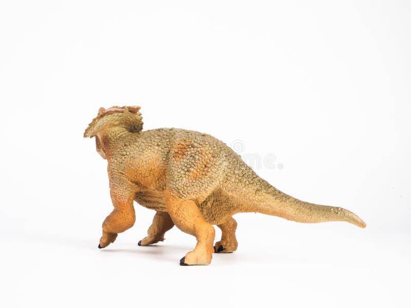 Δεινόσαυρος Einiosaurus στο άσπρο υπόβαθρο στοκ φωτογραφία με δικαίωμα ελεύθερης χρήσης