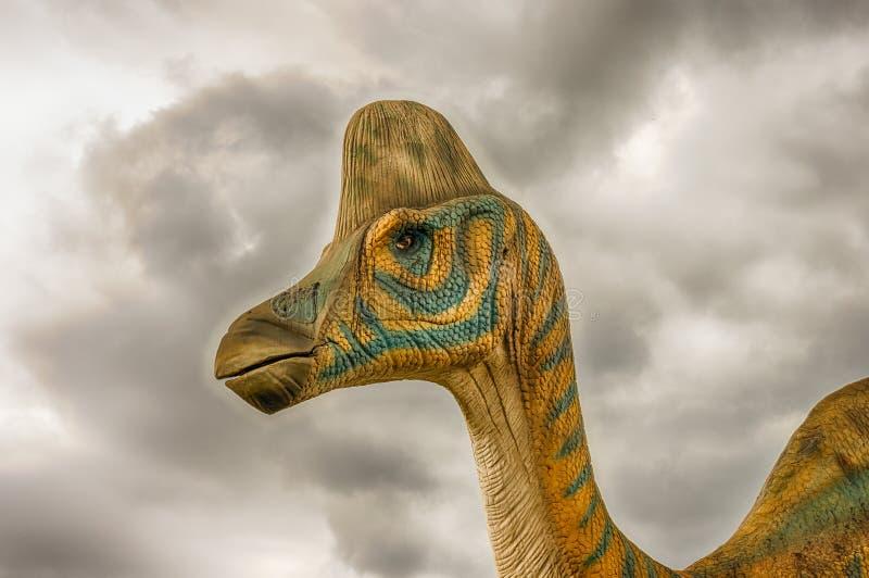 Δεινόσαυρος Lambeosaurus μέσα σε ένα πάρκο του Dino στη νότια Ιταλία στοκ εικόνα με δικαίωμα ελεύθερης χρήσης