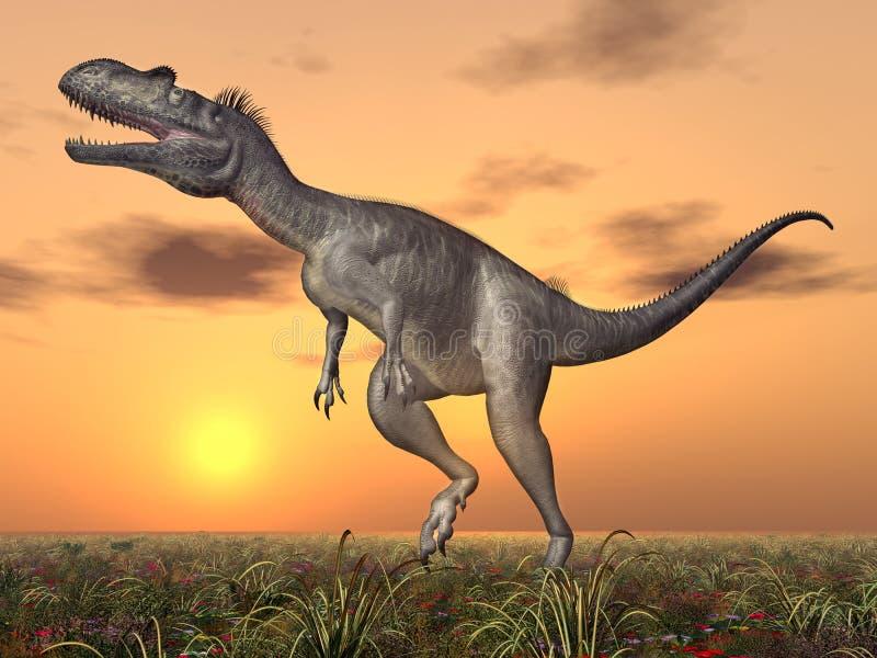 Δεινόσαυρος Megalosaurus απεικόνιση αποθεμάτων