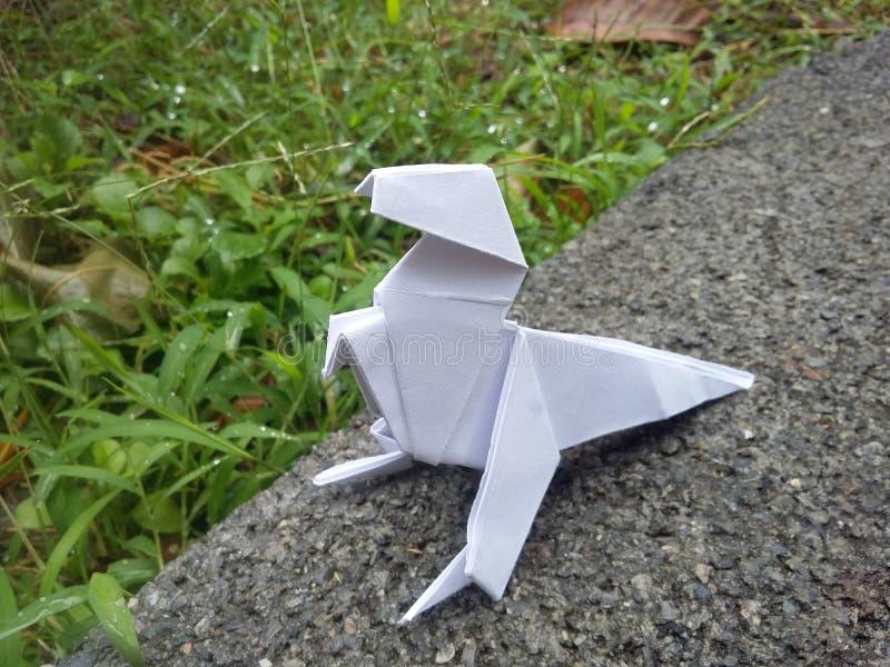 Δεινόσαυρος Origami στοκ εικόνες