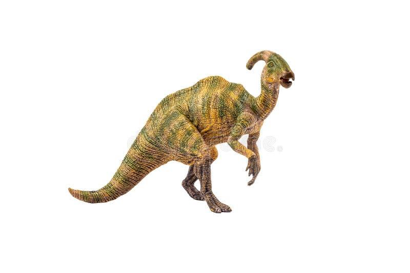 Δεινόσαυρος Parasaurolophus στο άσπρο υπόβαθρο στοκ φωτογραφία