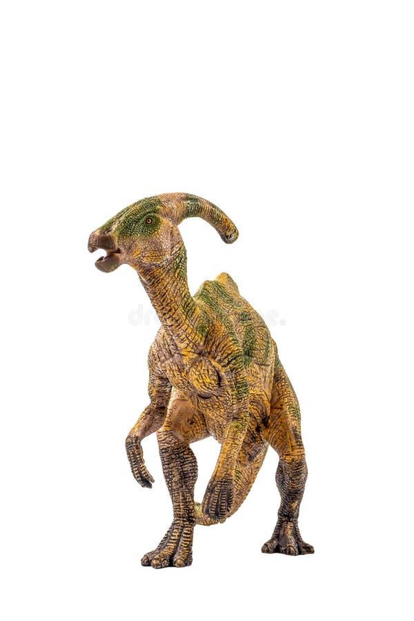 Δεινόσαυρος Parasaurolophus στο άσπρο υπόβαθρο στοκ εικόνες με δικαίωμα ελεύθερης χρήσης