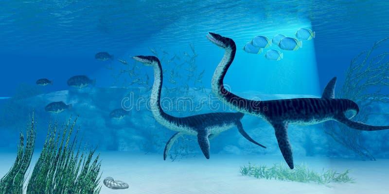 Δεινόσαυρος Plesiosaurus ελεύθερη απεικόνιση δικαιώματος