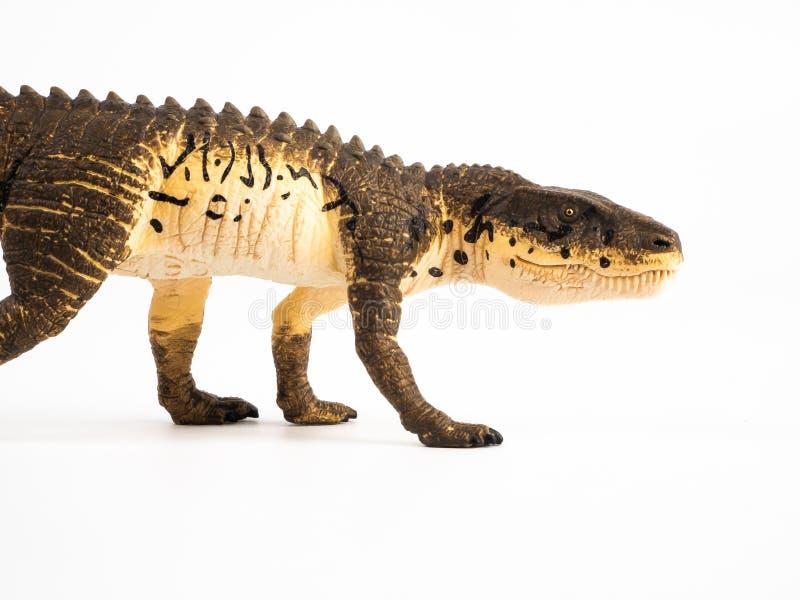 Δεινόσαυρος Postosuchus στο άσπρο υπόβαθρο στοκ εικόνα