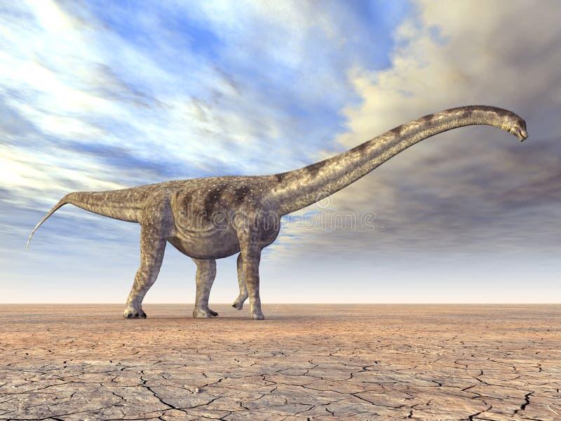 Δεινόσαυρος Puertasaurus ελεύθερη απεικόνιση δικαιώματος