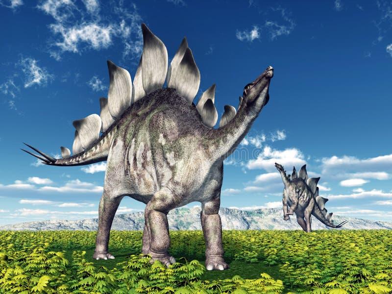 Δεινόσαυρος Stegosaurus ελεύθερη απεικόνιση δικαιώματος