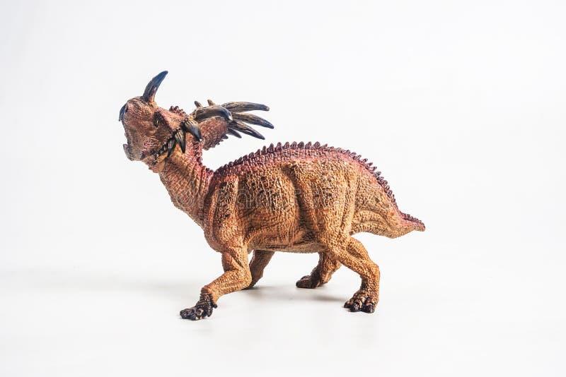 Δεινόσαυρος, Styracosaurus στο άσπρο υπόβαθρο στοκ φωτογραφία με δικαίωμα ελεύθερης χρήσης