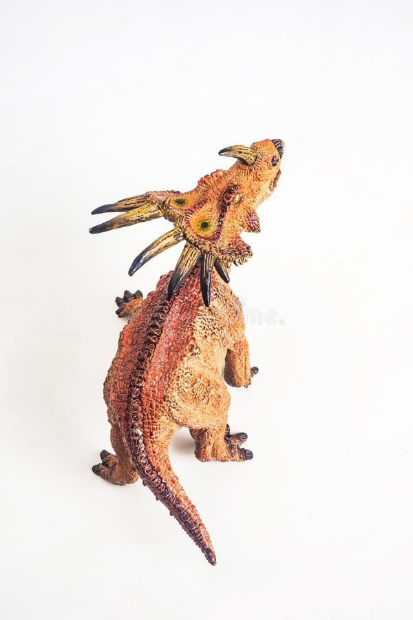 Δεινόσαυρος, Styracosaurus στο άσπρο υπόβαθρο στοκ φωτογραφίες με δικαίωμα ελεύθερης χρήσης