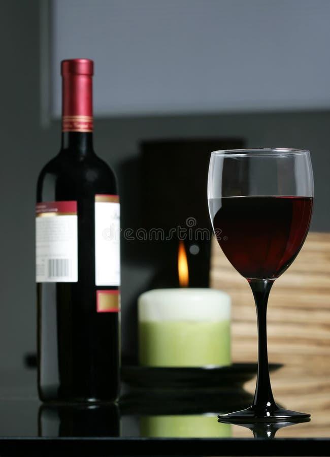 δειπνήστε κρασί στοκ εικόνα