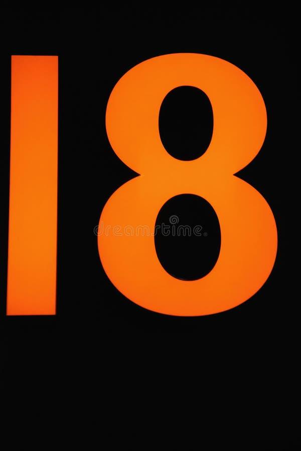 δεκαοχτώ στοκ εικόνες με δικαίωμα ελεύθερης χρήσης