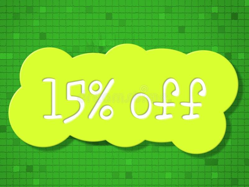 Δεκαπέντε τοις εκατό αντιπροσωπεύουν μακριά τις φτηνές εκπτώσεις και τις πωλήσεις ελεύθερη απεικόνιση δικαιώματος