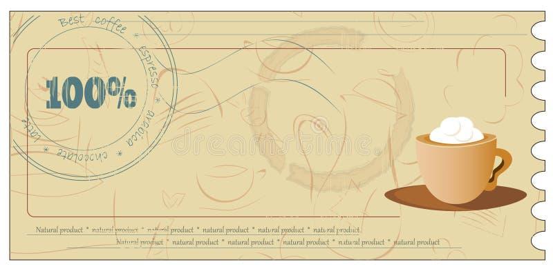δελτίο καφέ απεικόνιση αποθεμάτων