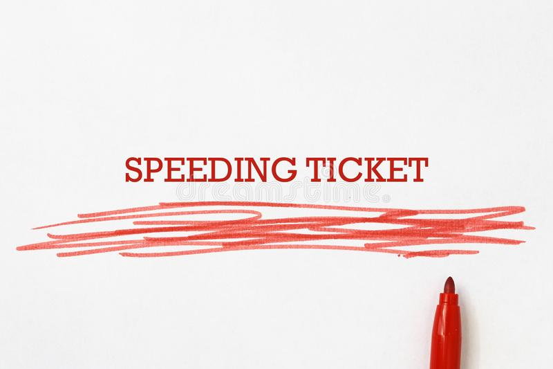 Δελτίο ταχύτητας σε χαρτί διανυσματική απεικόνιση
