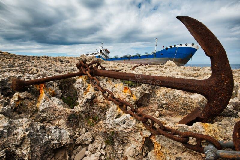 Δεμένο ναυάγιο στη Μάλτα στοκ εικόνες με δικαίωμα ελεύθερης χρήσης