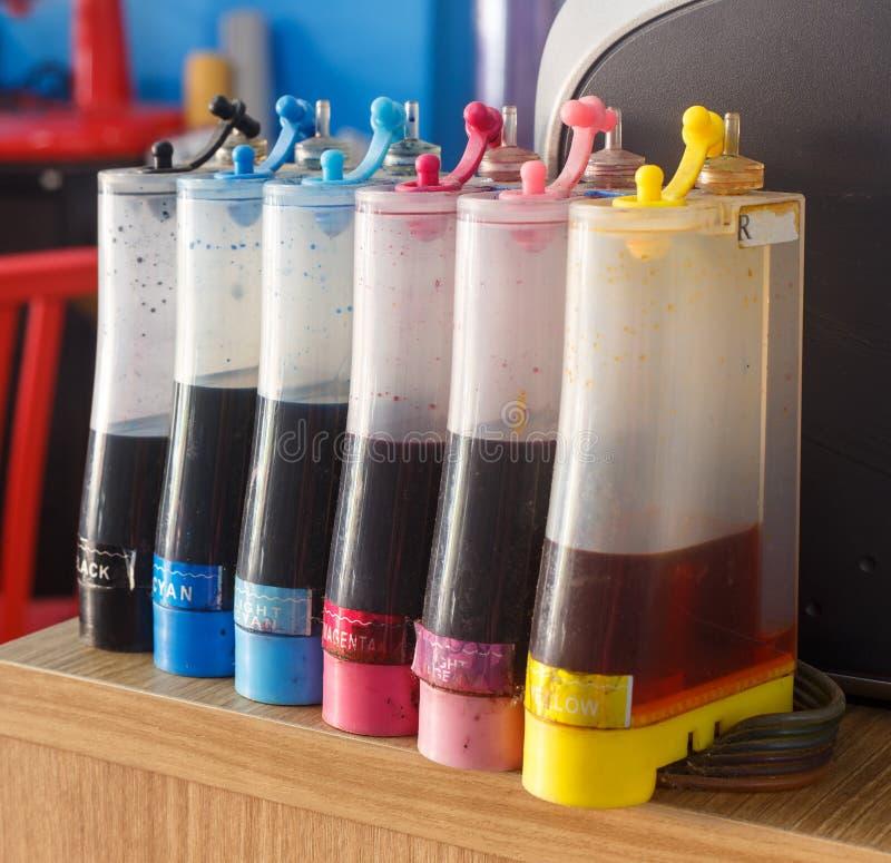 Δεξαμενές μελανιού εκτυπωτών στοκ φωτογραφία με δικαίωμα ελεύθερης χρήσης