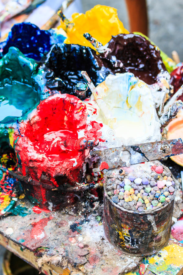 Δεξαμενές χρωμάτων στοκ εικόνες