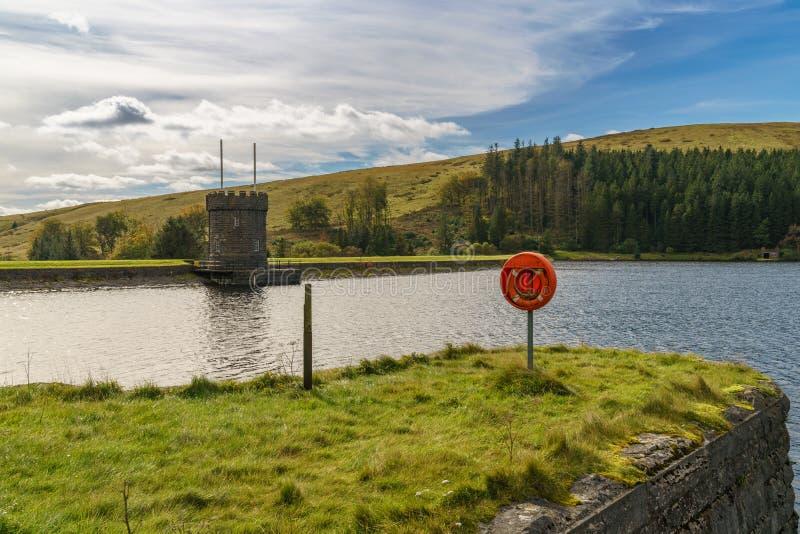 Δεξαμενή αναγνωριστικών σημάτων, Powys, Ουαλία, UK στοκ εικόνα